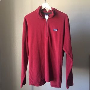 Patagonia Sweaters - Men's Patagonia Red Synchilla 1/4 zip Large